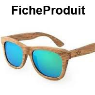 Les lunettes en bois originale et à la mode
